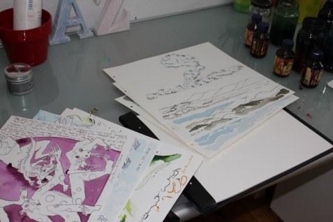 Bestückung der Mappe für das Projekt ohne Name (c) Foto von Susanne Haun
