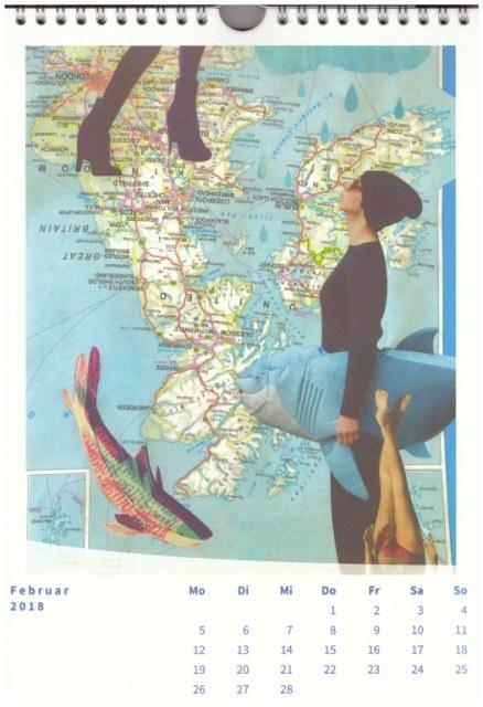 Fisch unterm Arm (c) Collage von Doreen Trittel