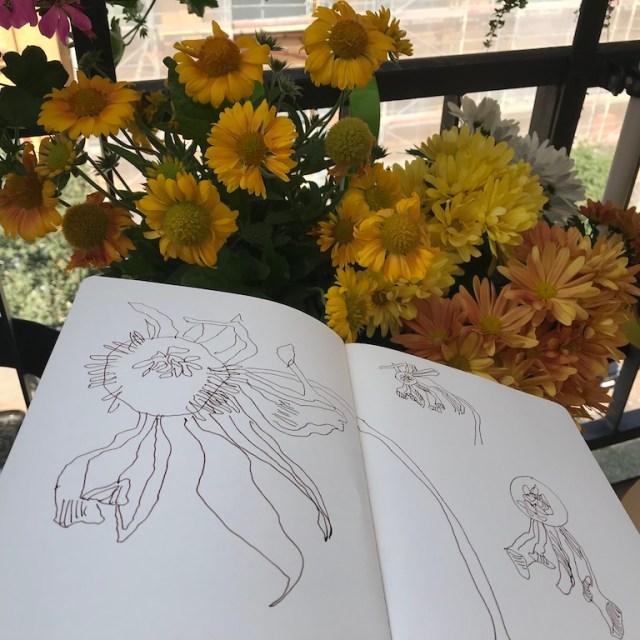 Beim Zeichnen auf dem Balkon (c) Foto von Susanne Haun