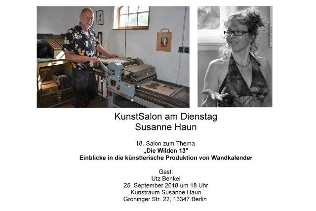 Einladung Kunstsalon Utz bei Susanne Haun