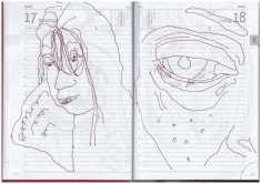 Selbstbildniss Tagebuch 15. - 22.1.2019, Zeichnung von Susanne Haun (c) VG Bild-Kunst, Bonn 2019