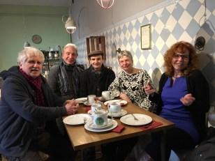 Nach den Eiswelten auf Schloss Türnich - Susanne Haun, Gerhard Kern, Martin Haeusler, Roswitha Mecke und M.Fanke