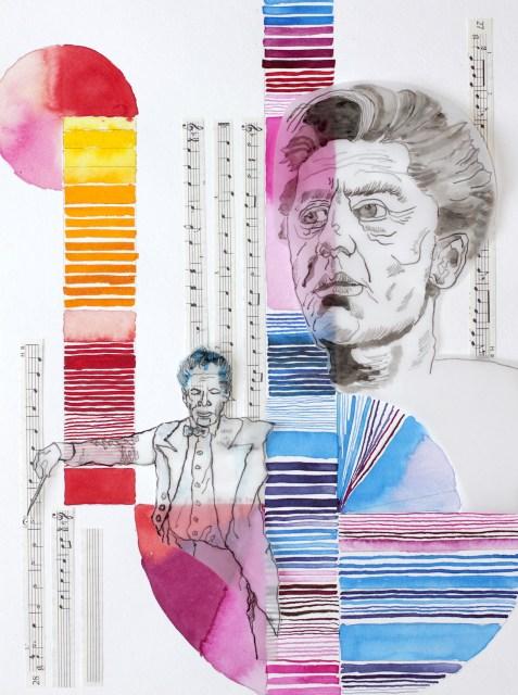 Mein Sinnbild von Karajan, Zeichnung von Susanne Haun (c) VG Bild-Kunst, Bonn 2019