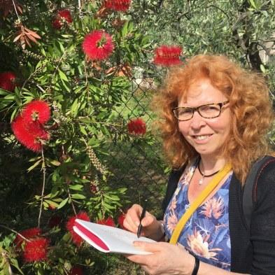 Toskana - Susanne Haun in St. Andrea die Compito (c) Foto von M.Fanke