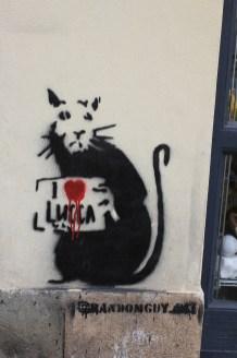 Randonguy mit der Katze I Love Lucca, Foto von Susanne Haun (c) VG Bild-Kunst, Bonn 2019