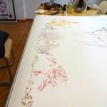 Vorbereitung meines Galerieraums für den KunstSalon zum Thema Afrika (c) Foto von Susanne Haun