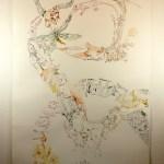4. Versuch, bearbeitet, Movement of Capetown, South Africa, 200 x 125 cm, Tusche auf Aquarellkarton, Zeichnung von Susanne Haun (c) VG Bild-Kunst, Bonn 2020