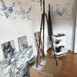 6. Versuchtsanordnung, Movement of Capetown, South Africa, 200 x 125 cm, Tusche auf Aquarellkarton, Zeichnung von Susanne Haun (c) VG Bild-Kunst, Bonn 2020