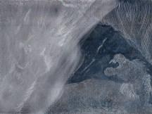 Zinkplatte, Die blaue Grotte, Version 1, Zwischenstand, 15 x 20 cm, Aquatinta von Susanne Haun (c) VG Bild-Kunst, Bonn 2020