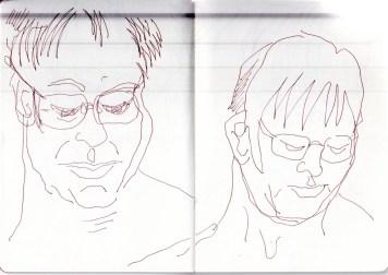 Katrin Merle, Zeichnung von Susanne Haun (c) VG Bild-Kunst, Bonn 2020