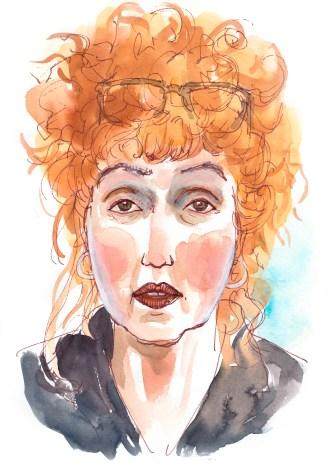 Susanne Haun gezeichnet von (c) Katrin Merle
