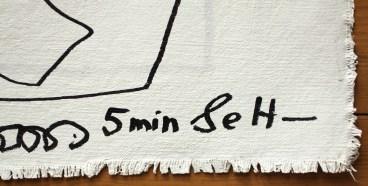 Detailansicht, Doppelter Blick aus dem Fenster, 57 x 73,5 cm, Zeichnung auf Leinwand von Susanne Haun (c) VG Bild-Kunst, Bonn 2020.