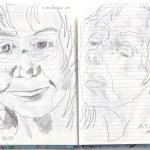 Selbstbildnisstagebuch 13.4. - 31.5.2020, Zeichnung von Susanne Haun (c) VG Bild-Kunst, Bonn 2020