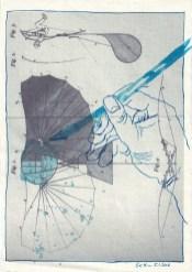 Blatt 18 - Zyklus Otto Lilienthal - Zeichnung von Susanne Haun - 30 x 20 cm - Tusche auf Silberburg Bütten (c) VG Bild-Kunst, Bonn 2020