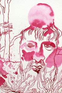 Ausschnitt - Heraklit - Alles Fliesst - 32 x 24 cm, Tusche auf Aquarellkarton, Zeichnung von Susanne Haun (c) VG Bild-Kunst, Bonn 2020