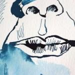 Detail Mein Sinnbild von Ricarda Huch, Zeichnung von Susanne Haun, 32 x 24 cm, Tusche auf Aquarellkarton (c) VG Bild-Kunst, Bonn 2020