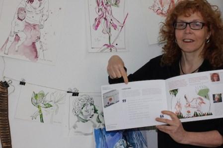 Susanne Haun im Eichhörnchenverlag, Foto selbst (c) VG Bild-Kunst, Bonn 2020