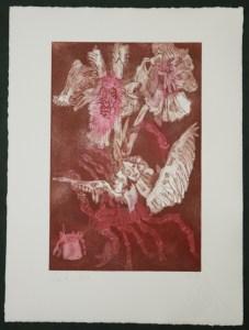 3-10, Auch Engel lassen sich gerne tragen, 29,5 x 19,5 cm, 38,5 x 26 cm, Hahnemühle 300g, weiß matt, Kuperdruckpapier, Aquatinta von Susanne Haun