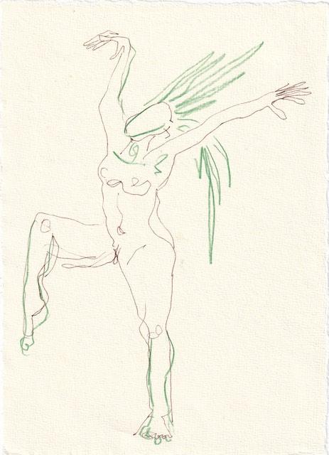 Tagebucheintrag 23.11.2020, Filomena die dritte - Version 2, 20 x 15 cm, Tinte und Aquarell auf Silberburg Büttenpapier, Zeichnung von Susanne Haun (c) VG Bild-Kunst, Bonn 2020