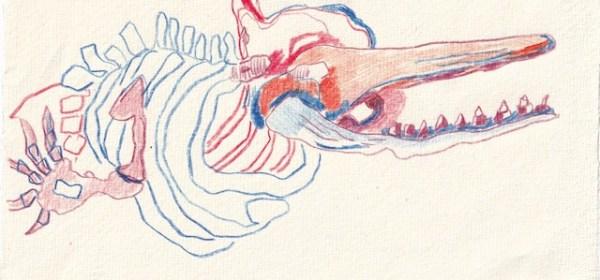 Tagebucheintrag 15.12.2020, Erinnerung an Stralsund, 20 x 15 cm, Tinte und Aquarell auf Silberburg Büttenpapier, Zeichnung von Susanne Haun (c) VG Bild-Kunst, Bonn 2020