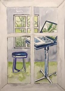Bild 2 Wohnen, 36 x 26 cm, Tusche auf Aquarellkarton (c) Zeichnung von Susanne Haun
