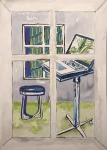 Bild 3 Wohnen, 36 x 26 cm, Tusche auf Aquarellkarton (c) Zeichnung von Susanne Haun