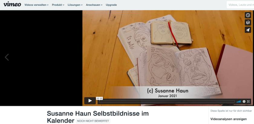 Susanne Haun Bild zum Vimeo Film Selfies im Kalender 2021