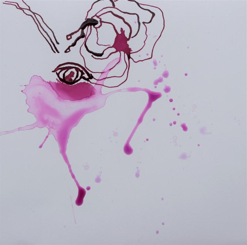 2021 03 23 Reihentanz, 15 x 15 cm, Zeichnung von Susanne Haun (c) VG Bild-Kunst, Bonn 2021