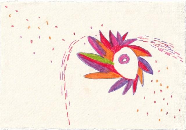 Tagebucheintrag 21.03.2021, Waiting for, Version 6, 20 x 15 cm, Tinte und Aquarell auf Silberburg Büttenpapier, Zeichnung von Susanne Haun (c) VG Bild-Kunst, Bonn 2021