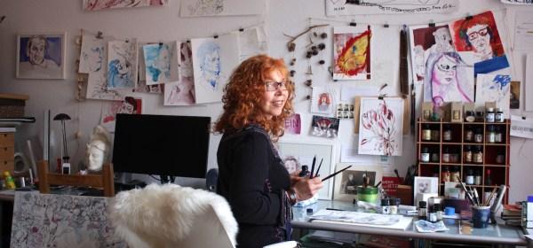 Susanne Haun in ihrem Atelier (c) Foto von M.Fanke