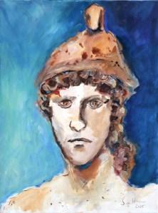 Portrait eines antiken Jünglings, Gemaelde von Susanne Haun (c) VG Bild-Kunst, Bonn 2021