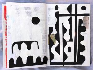 Op-Art 2, 24 x 37 cm, Marker auf Brockhaus, Aneignung, Zeichung von Susanne Haun (c) VG Bild-Kunst, Bonn 2021