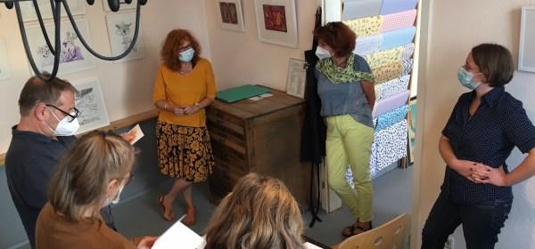 Impressionen von der Ausstellungseröffnung Galerie Blickwinkel Schwerin, Susanne Haun (c) Foto M.Fanke