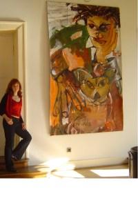 1 Hommage an Basquiat, Gemaelde von Susanne Haun, Ausstellung Schlossparktheater (c) VG Bild-Kunst, Bonn 2021
