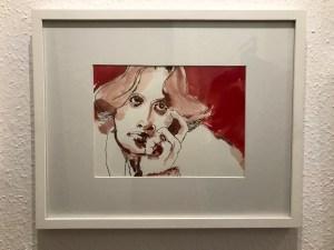 Oscar Wilde, Portät, Zeichnung von Susanne Haun (c) VG Bild-Kunst, Bonn 2021
