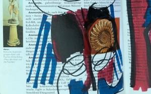 Wachsender Bauch, 24 x 37 cm cm, Marker auf Brockhaus, Aneignung, Zeichung von Susanne Haun (c) VG Bild-Kunst, Bonn 2021