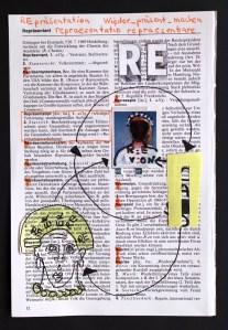 4 Re-Praesentation, .19 x 13 cm, Collage von Susanne Haun