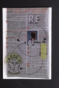5 Re-Praesentation, .19 x 13 cm, Collage von Susanne Haun