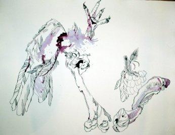 Der Tod - 65 x 50 cm (c) Zeichnung von Susanne Haun