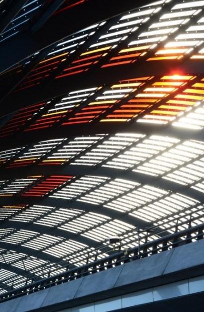 Das Dach des Hauptbahnhof in Amsterdam (c) Foto von M.Fanke