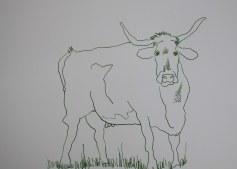 Sehgewohnheiten der Kleinsten – Die Kuh - Version 2 - Entstehung (c) Collage von Susanne Haun