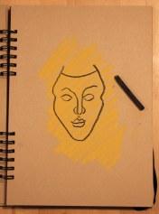 3. Schritt - Pastell Portrait (c) Zeichnung von Susanne Haun