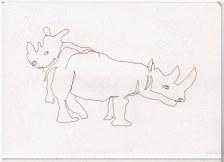 Nashorn (c) Zeichnung von Susanne Haun