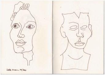 1 Aus meinem Skizzenbuch - im Kolbe Museum (c) Zeichnung von Susanne Haun