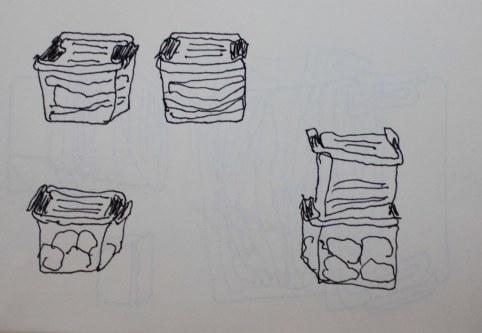 Container-Architektur (c) Zeichnung von Susanne Haun