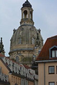 Brühlsche Terassen Blick Frauenkirche in der Altstadt von Dresden (c) Foto von M.Fanke