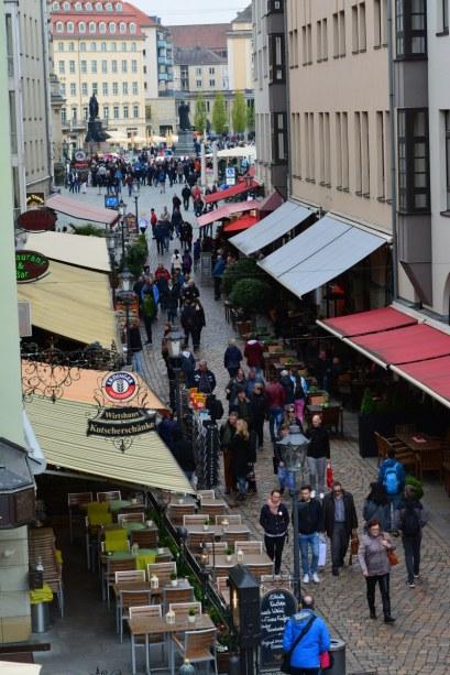 Blick von der Brühlschen Terassen in der Altstadt von Dresden (c) Foto von M.Fanke