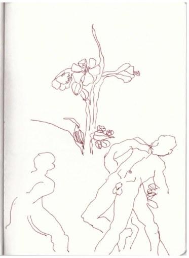 Rehberge Catcherwiese Berlin Wedding (c) Zeichnung von Susanne Haun