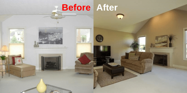 Family Room - BeforeAfter