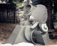 """""""Silver Service"""", 2000, Welded Steel, Painted, 60""""H x 55""""Wx 38""""D"""